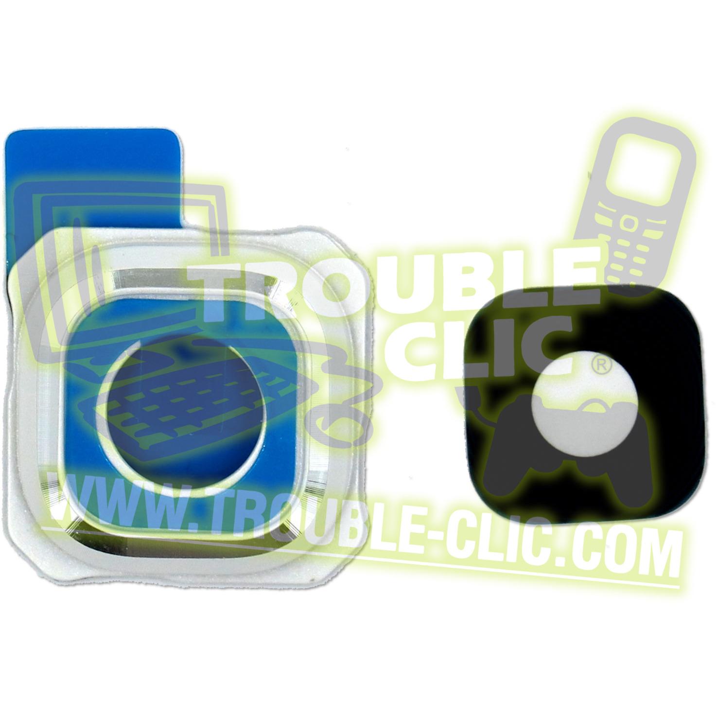 acheter pour r parer lentille vitre en verre blanche de remplacement pour cam ra samsung galaxy. Black Bedroom Furniture Sets. Home Design Ideas