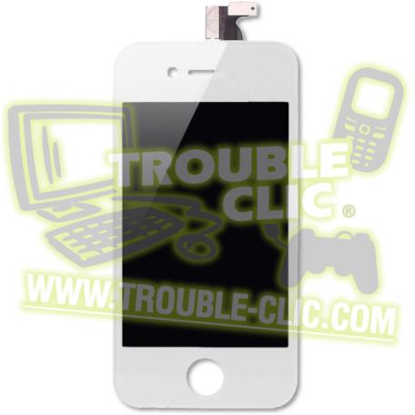 acheter pour r parer ecran lcd de rechange pour iphone 4s blanc trouble clic. Black Bedroom Furniture Sets. Home Design Ideas